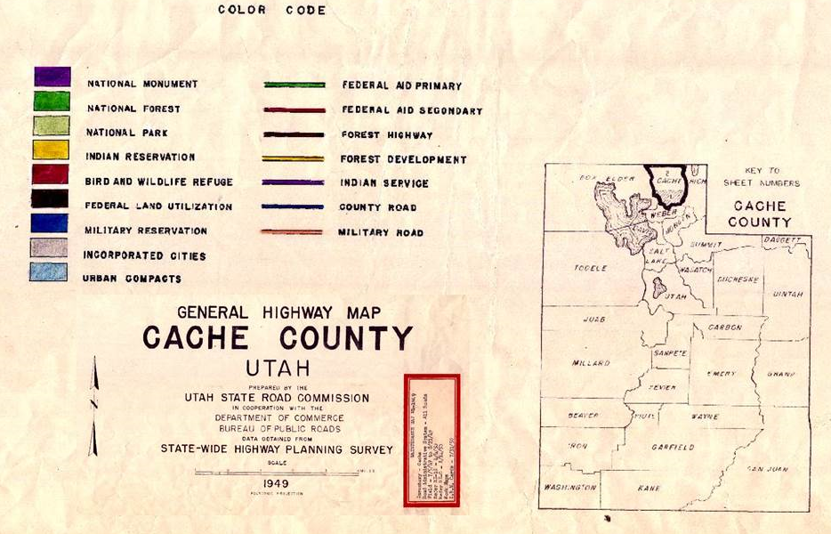 County Utah Map.Official Site Of Cache County Utah Historical Road Maps