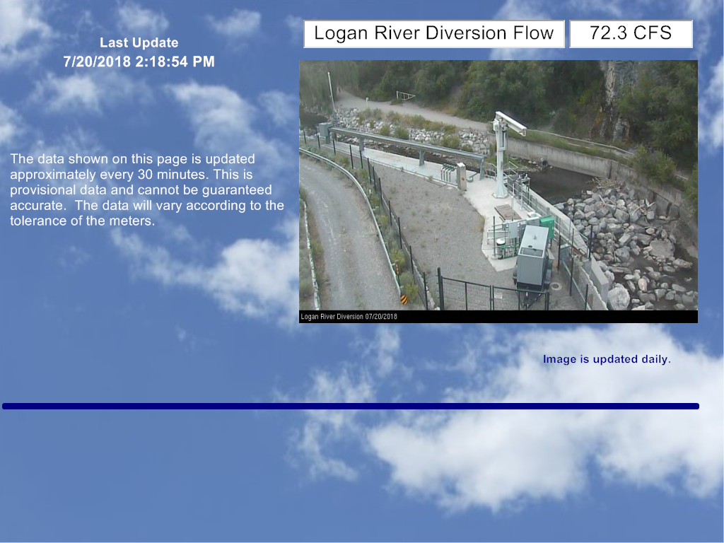 Official site of cache county utah cache highline water association flow data